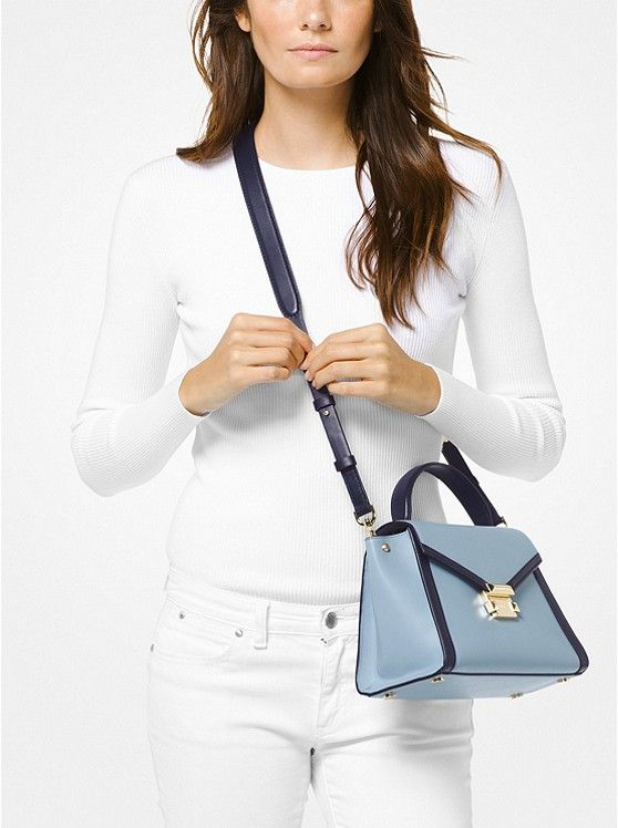 71e7190be8ab MK Whitney Medium Leather Satchel $298 10.25