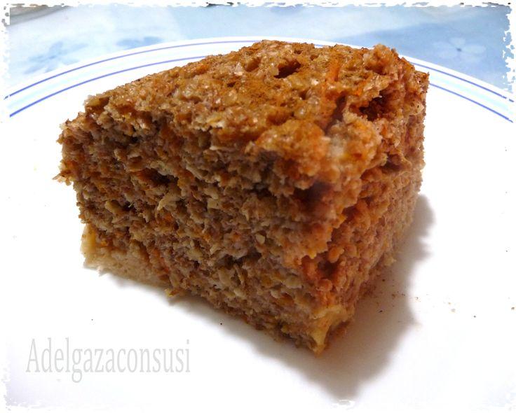 Ingredientes para 4 raciones 4 cucharadas soperas de salvado de avena (80gr)4 cucharadas de salvado de trigo ( 30gr)6 claras de huevo pasteurizadas ( 200 ml)una cucharada sopera de yogur natural 0% ( 50 gr)200 gr de zanahoria rallada100 ml de leche desnatada20 gr nueces picadasMedia cucharada de canela en polvoUna pizca de jengibre en polvoUna pizca de nuez moscada en polvoUna cucharita de levadura
