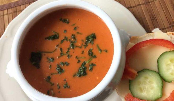 Soppa med lite sting i, med smak av bl.a. chili och Philadelphiaost (vitlök och örter).