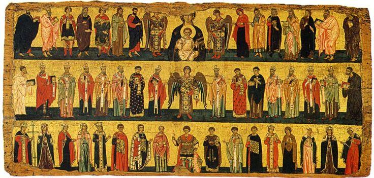 Altarpiece: Virgin, Prophets, Apostles and Saints