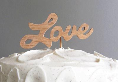 Make a Wooden Cake Topper