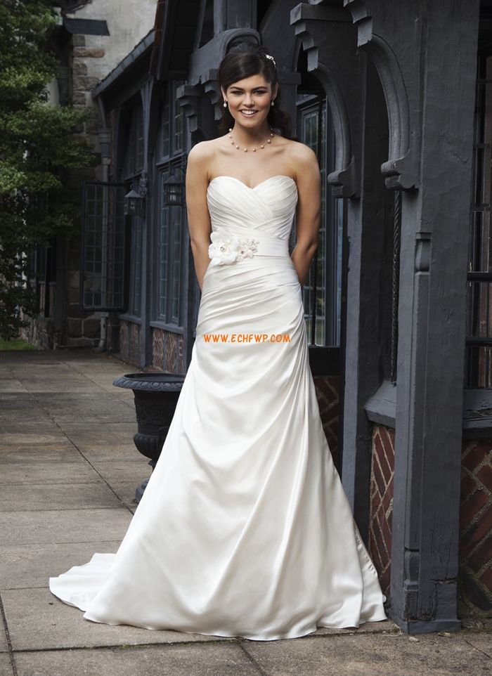 Corte A Escote Corazón Clásico Vestidos de novias 2014