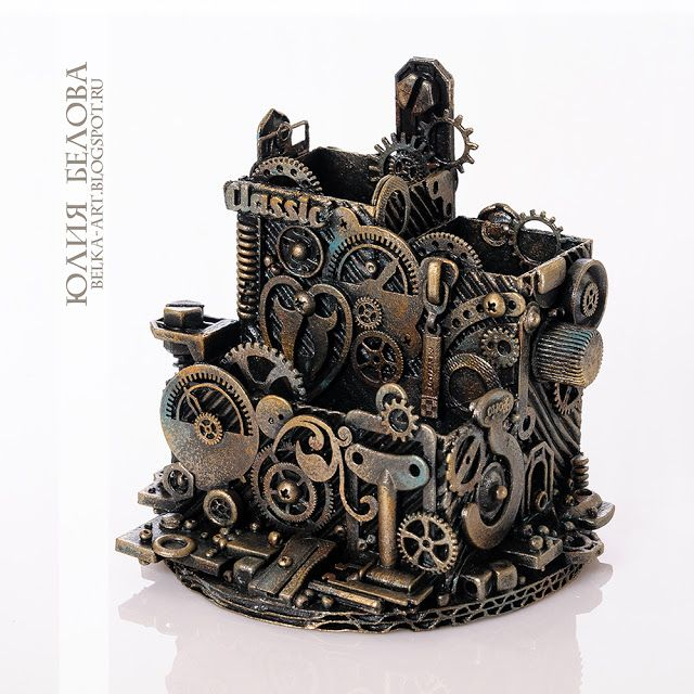 Белка Джу (Юлия Белова) Belova-art studio: Настольный органайзер стимпанк