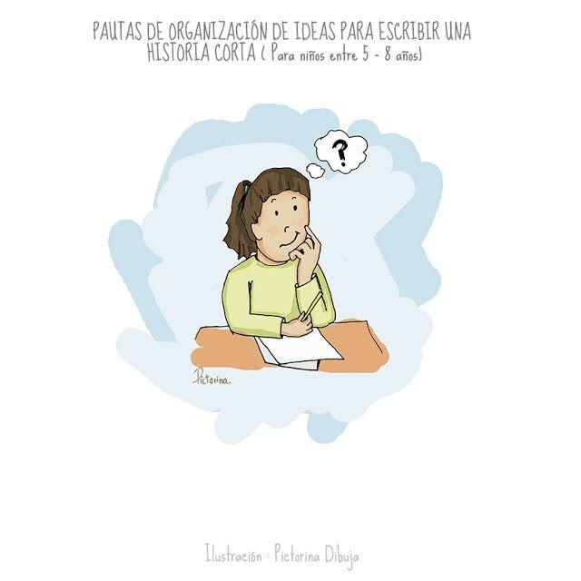 Dibujos para niños con T.E.A. y sus padres.: Organización de ideas para escribir una historia corta ( para niños entre 5 - 8 años)