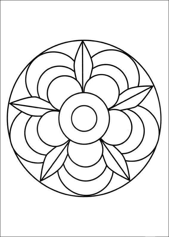 Desenhos para colorir para crianças. Desenhos para imprimir e colorir Mandalas 47