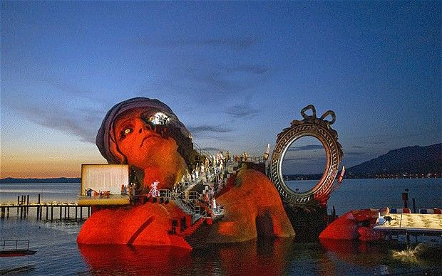 Every summer, Bregenz Festival lures huge crowds – and top-notch British talent – to its floating stage on Lake Constance. It's a thrilling marriage of seriousness and pizzazz, just as long as it doesn't rain...