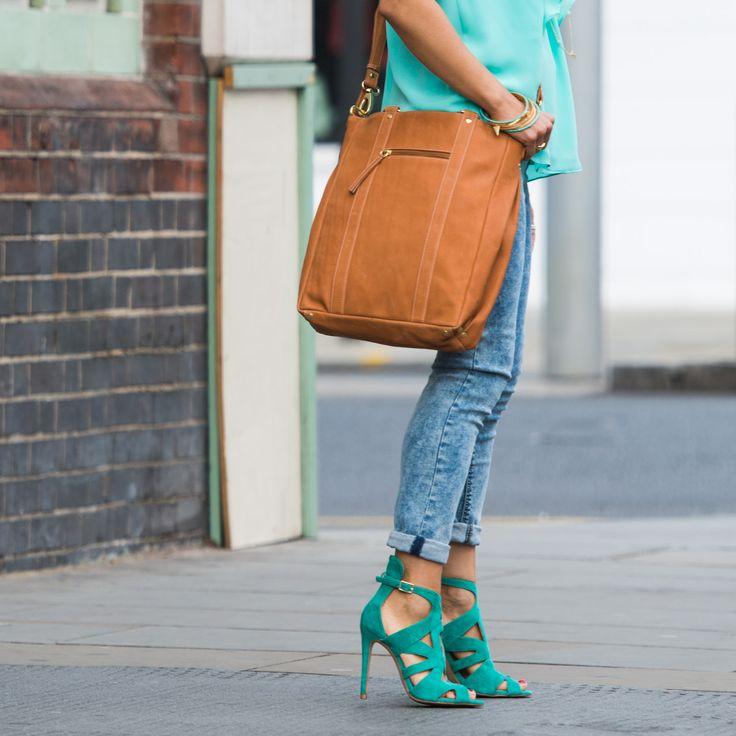 Luxury Leather Tan Tote/Satchel. Handbag. Bag. Fairtrade. Buy at: www.bettyandbetts.com