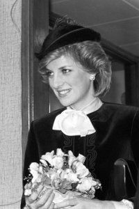 Diana, Princess of Wales visits the Royal Marsden Hospital in Sutton