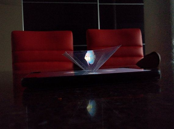Holographic Iphone Projector by CellphoneHologram on Etsy