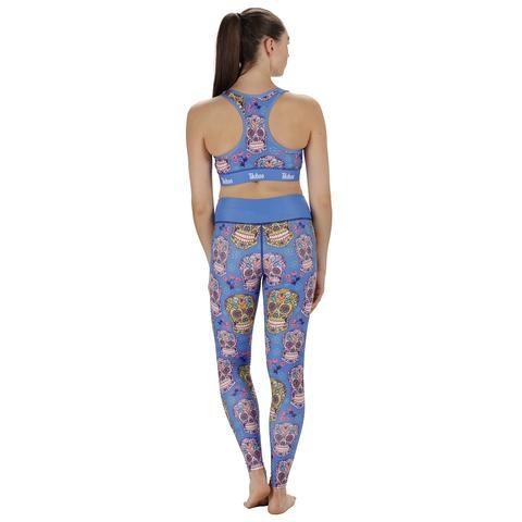 Blue Sugar Skulls Activewear #Activewear #Gymwear #FitnessLeggings #Leggings #Tikiboo #Running #Yoga