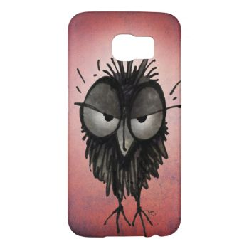 Cute little funny grumpy owl from an original illustration, hand drawn by Paul Stickland for Strangestore. Put an owl on your phone! Funny Pink phone Cases. This little owl looks a little cross, perhaps he stayed up too late last night... I love drawing owls and owl art! Owl humor! Loads more funny little owls on StrangeStore. #little #owls #funny #owl #funny #owl #owls #cute #owls #owl #phone #animals #pink #grumpy #funny #owls #strangestore #owl #art #paul #stickland #strange #store…