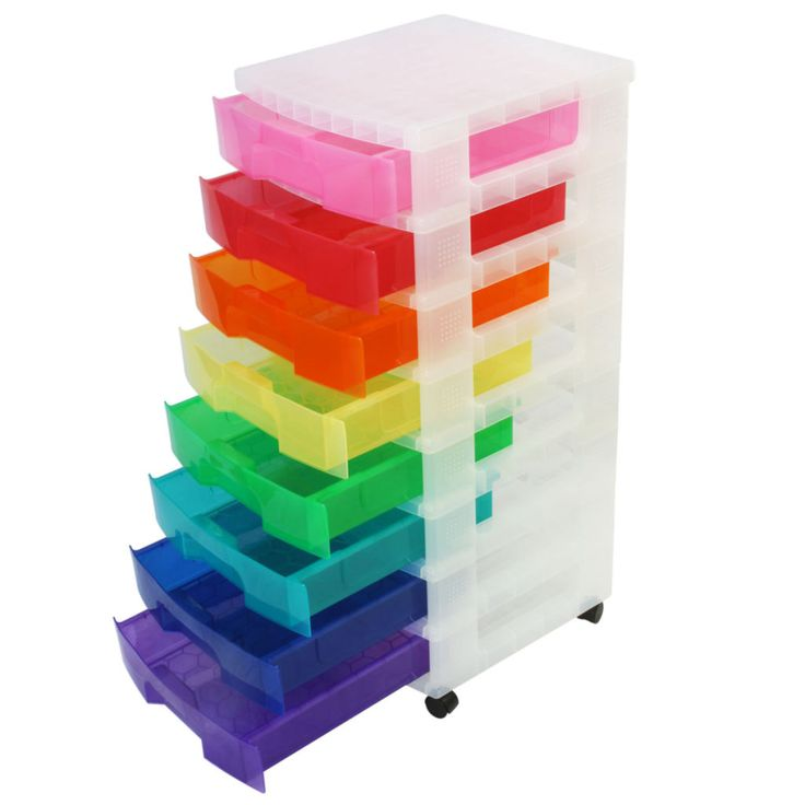 Rainbow Chest By Recollections Drawer Unit Plastic