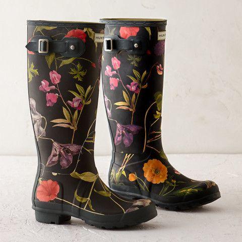 Hunter Floral Garden Boots? How cute.
