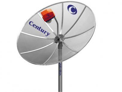 Antena Parabólica Analógica Century - Multiponto 150 MT com as melhores condições você encontra no Magazine Lucimarmagzine. Confira!
