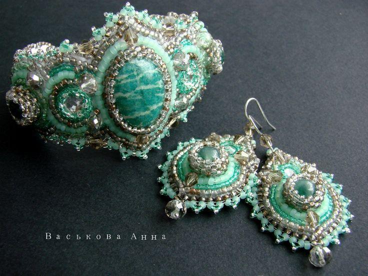 VA bead jewelry. Украшения из бисера и камней.