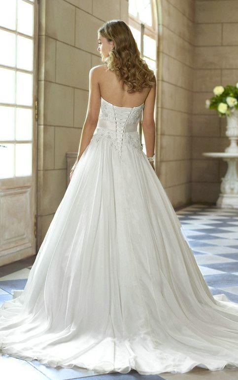 White/Ivory Sexy Chiffon Lace Applique Wedding Dress Bridal Gown