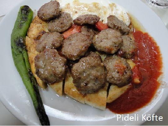 Türk yemekleri, Bursa, pideli köfte