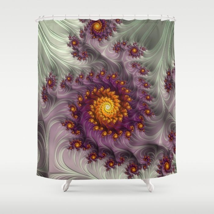 Buy Saffron Frosting - Fractal Art Shower Curtain by jilla. Worldwide shipping available at Society6.com. Just one of millions of high quality products available.