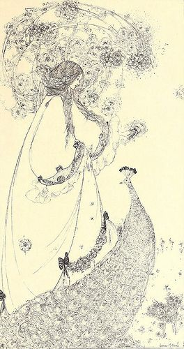 """Jessie M King (1875-1949), """"The little princess and the pe…   Flickr"""