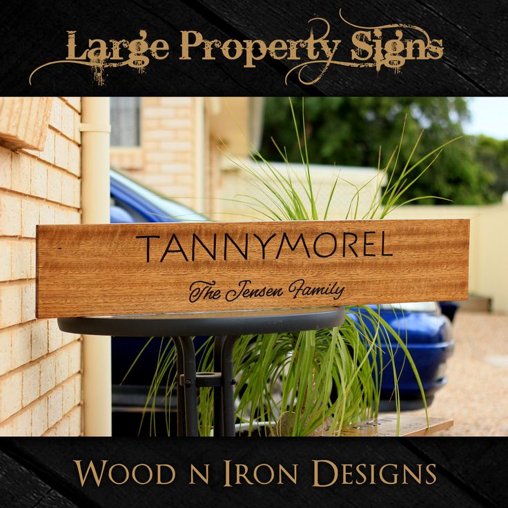 Tasmanian Oak Large Property sign.