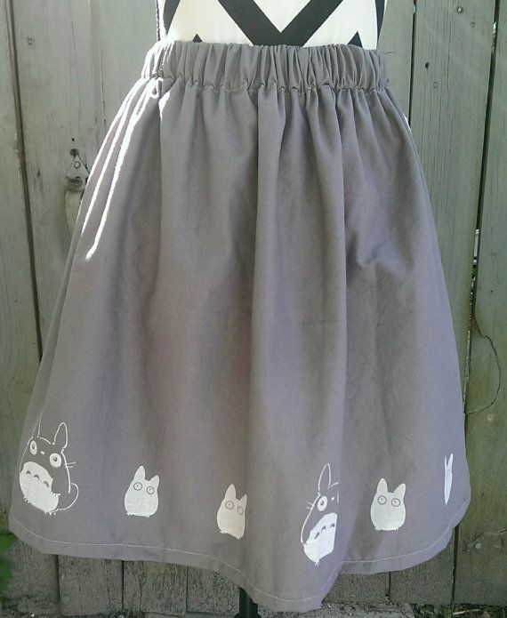 Heres your favorite Studio Ghibli character on a skirt! Now you can wear your Totoro everywhere you go! This skirt is made in a full style with a