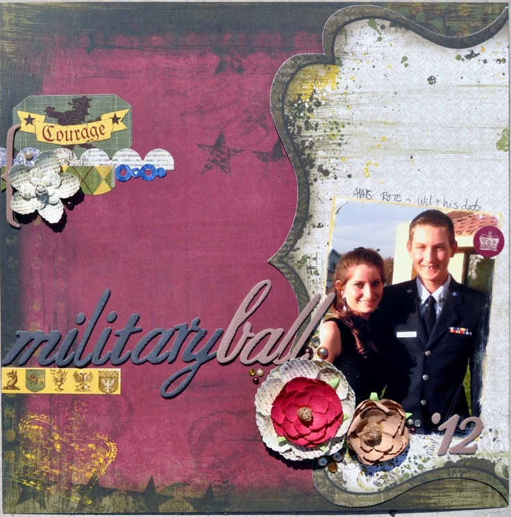 Military Ball - Scrapbook.com: Scrapbook Ideas, Scrapbook Com Galleries, Military Scrapbook, Scrapbook Military, Crafts Scrapbook, Marine Scrapbook, Projects Life Scrapbook, Projects Lifescrapbook