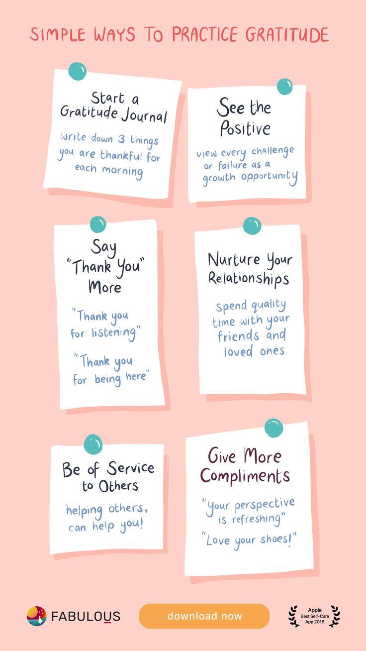 Practice gratitude self care bullet journal self care