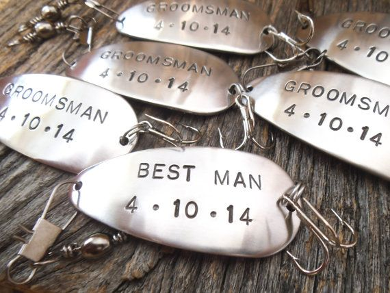 Wedding Gifts for Groomsman Favors for Best by CandTCustomLures, $30.00