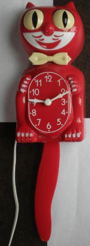 Kit Cat Klock Clock Model D8 Red Kat - REPAIRED & WORKS - ELECTRIC 90 DAY GUARANTEE!!! - $194.88 #AnimatedClock #RedCat #CaliforniaClockCo #Clock #Collectable #CollectorClock #Electric #KitCat #KitCatKlock #KitchenClock #ModelD8 #NoveltyClock #RollingEyes #VintageClock #WaggingTail #WallClock
