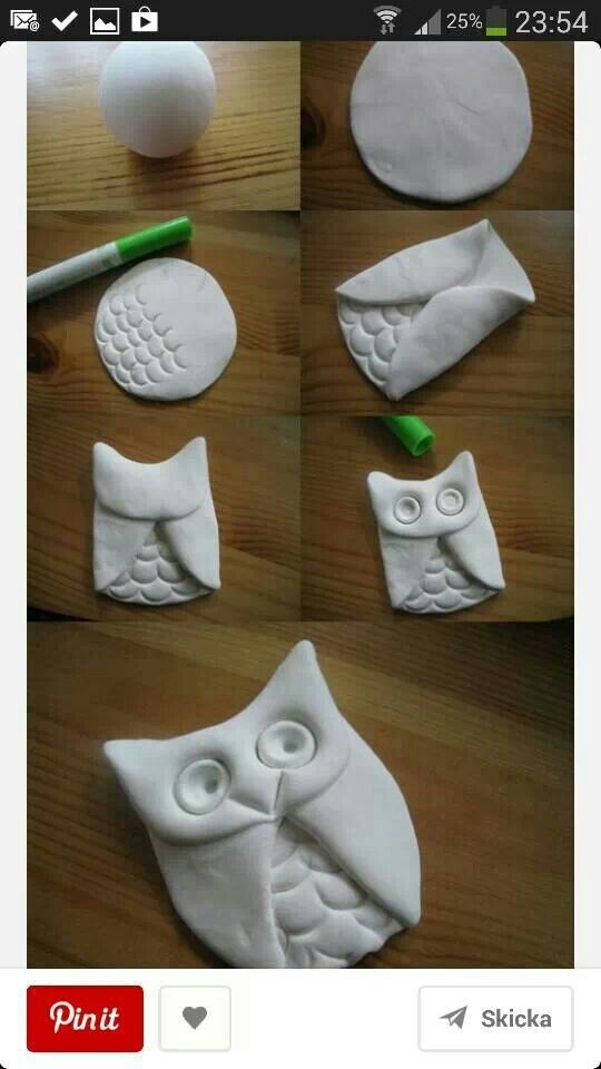 Owl out of sculpy - could then cook and make a charm