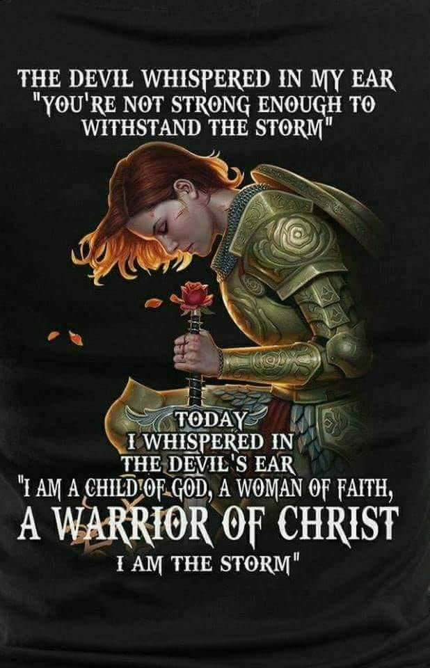 Warrior Christ Devil Whispered Youre Not Strong Enough To Withstand The Storm