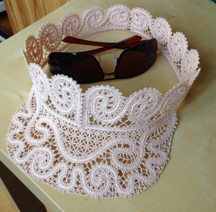 Advanced Embroidery Designs - FSL Battenberg Lace Visor