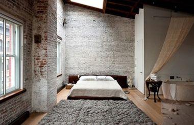 industrieel interieur slaapkamer
