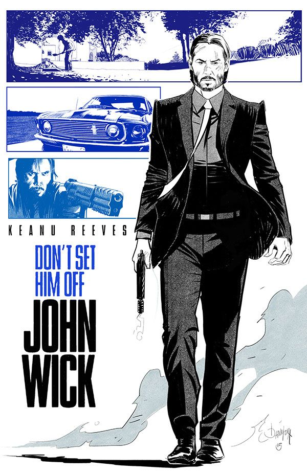 John Wick - movie poster - Dan Mora