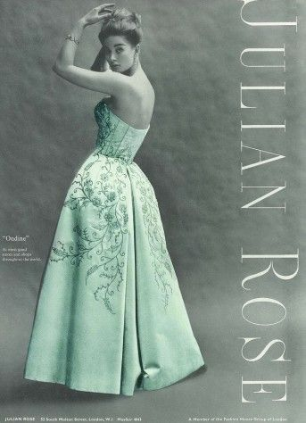 Julian Rose Ondine Ball Gown c1963