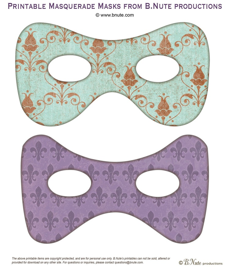 Masquerade Invitations Free Printable