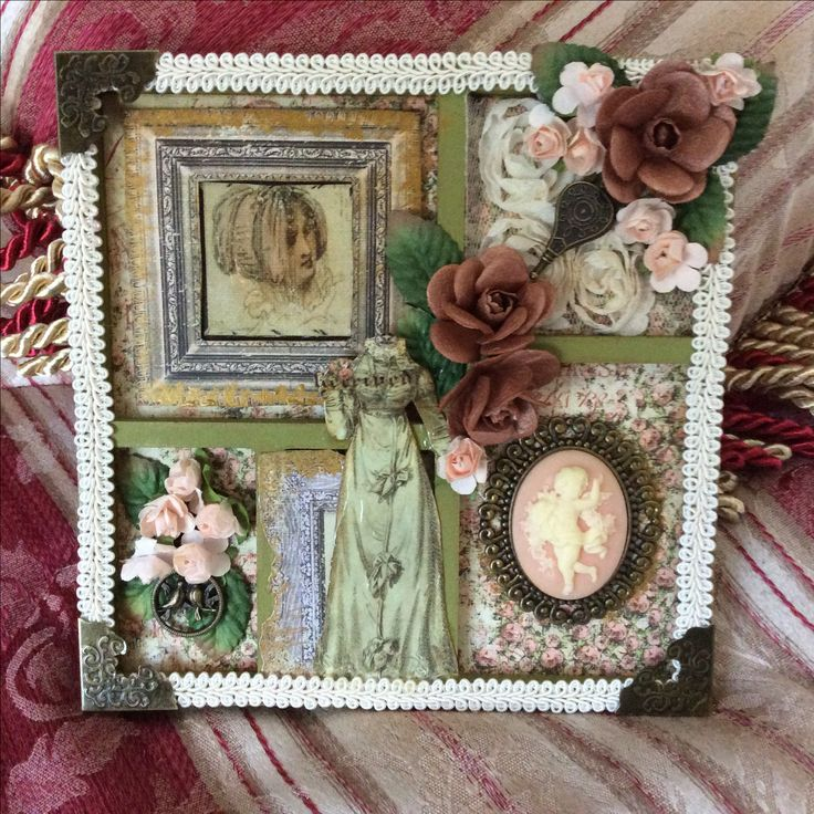 Kaisercraft Mini Shadow Frame with Debutante Collections paper