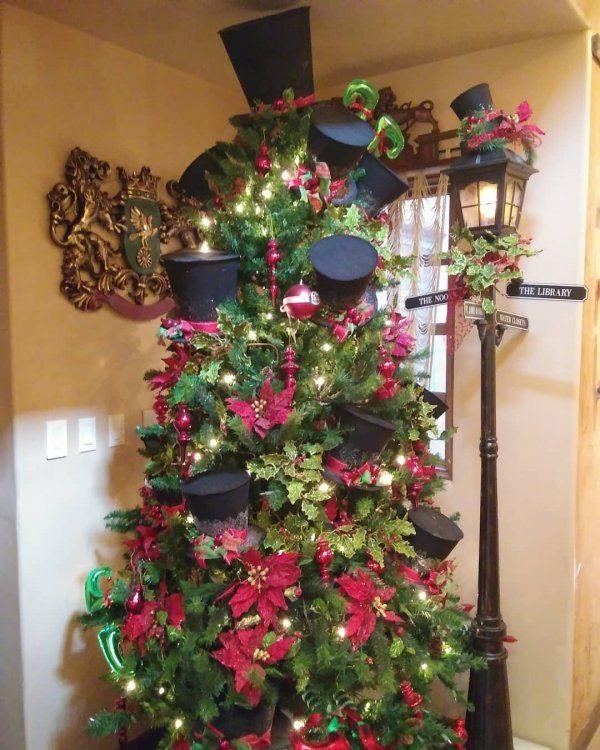 Christmas Carol Theme Christmas Tree Looks Fabulous Pic By Crystalariana G Colorful Christmas Tree Decor Christmas Tree Decorations A Christmas Carol Themes