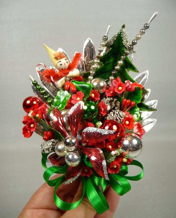 Vintage Christmas corsage - mom got a new one every year--I was so jealous.