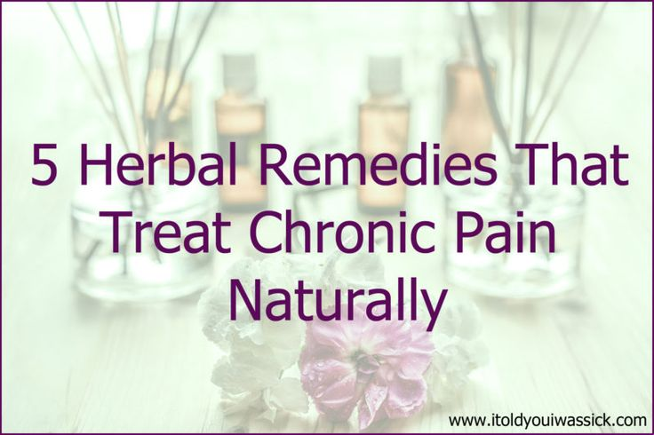 5 Herbal Remedies That Treat Chronic Pain Naturally 🔉