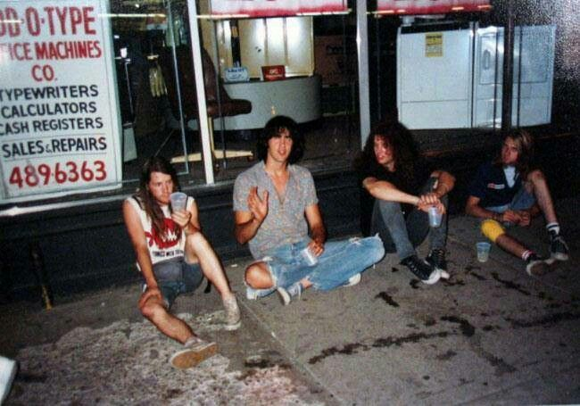 Krist Novaselic, Chad Channing, Kurt Cobain and Jason Everman.
