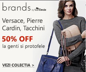 Genti Brand Reduceri de minim 50% la genti si portofele de firma: Pierre Cardin, Versace, Made in Italy, Sergio Tacchini sau Benetton. TEAMDEALS.RO DE MACHTEAM SOFT SRL