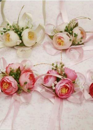 Quality Silk Cloth Bandage Bridal Wedding Wrist Corsages - Wedding Flowers - Accessories