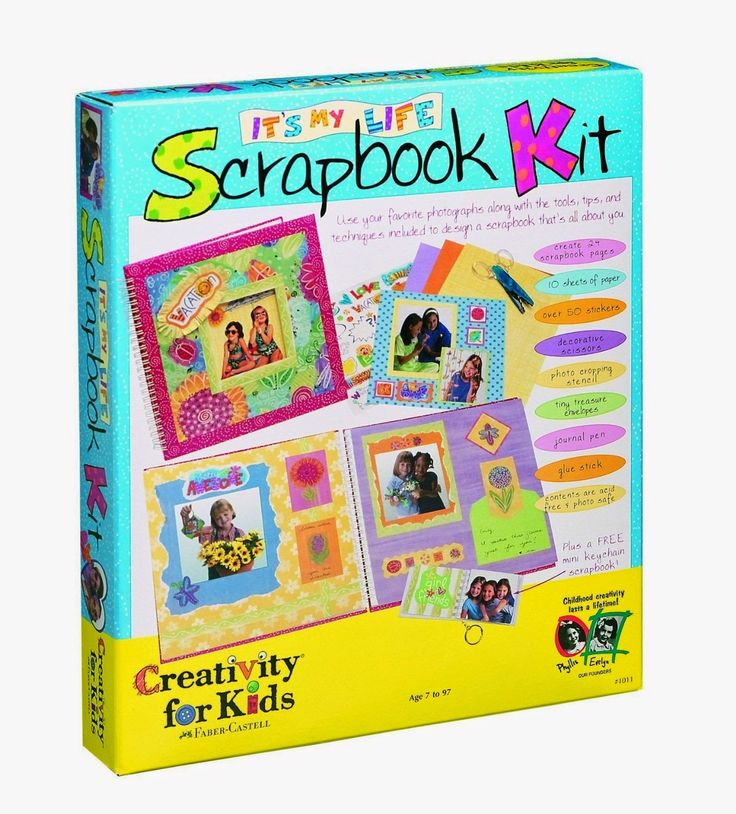 Creativity For Kids It's My Life Scrapbook Kit On the box it says for children 7 years and up. If possible get a disposable camera to go with gift. Young girls are now starting to question themselves and where they belong. This will help them see themselves as just perfect http://livinggood-entrepeneural.blogspot.com/2014/10/toys-for-girls.html