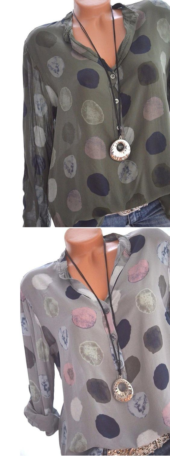 55% OFF! Casual Polka Dot Shirts For Women. SHOP NOW!