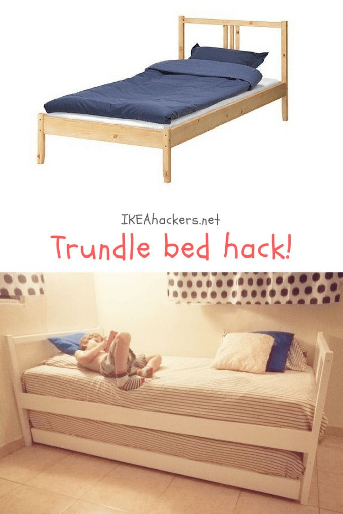 Trundle Bed Hack Means More Space For Activities Ikea Hackers Trundle Bed Plans Ikea Trundle Bed Ikea Guest Bed