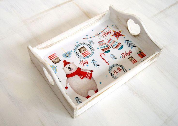 Christmas Bear Tray - Tava personalizata Craciun cadouri corporate