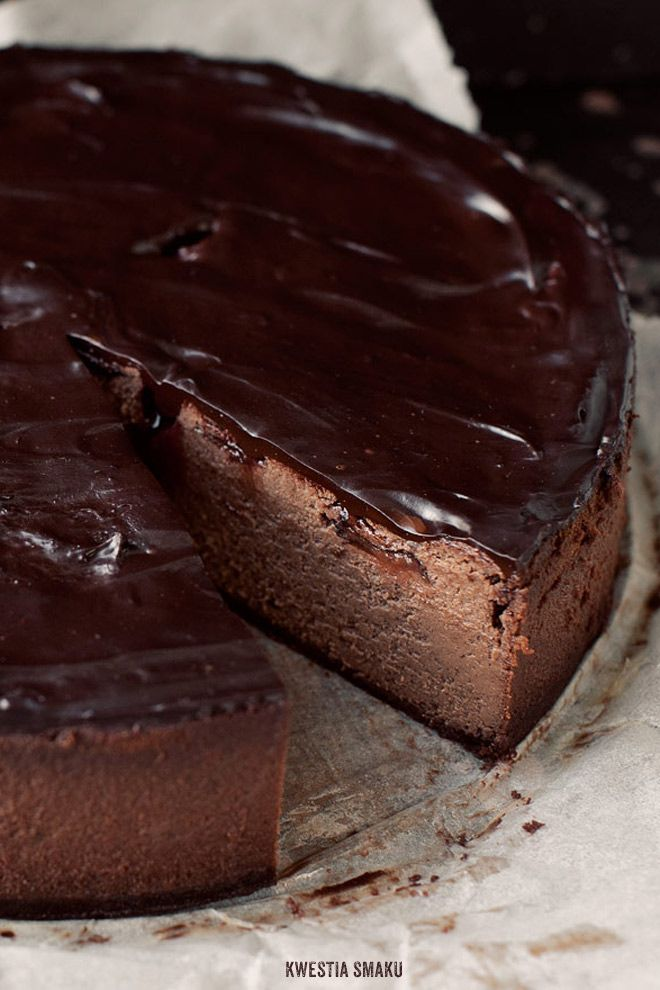 Chocolate & Baked Plum Cheesecake