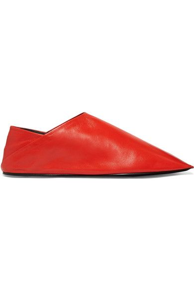 Balenciaga - Leather Slippers - Red - IT39.5