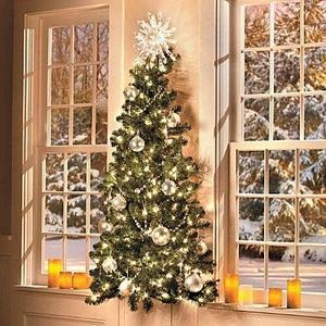 Wall Hanging Christmas Tree With Lights : 5 Foot Prelit Indoor Hanging Wall Lighted Christmas Tree Holiday Deco?